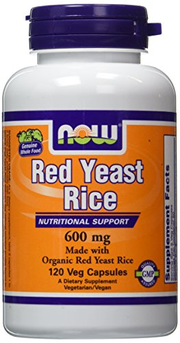 NOW ORGANIC RED YEAST RICE EXTRACT 600 MG - 120 Vegicaps (Rice Extract compare prices)