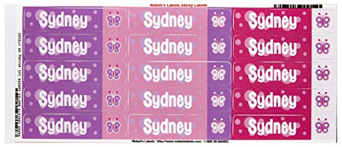 Mabel'S Labels 40845193 Peel And Stick Personalized Labels With The Name Sydney And Butterfly Icon, 45-Count front-945627