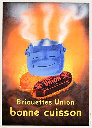 Vintage freschi e dolci Tronchetti Unione Bonne Cuisson, Belgio 250gsm Lucido Art poster A3di riproduzione