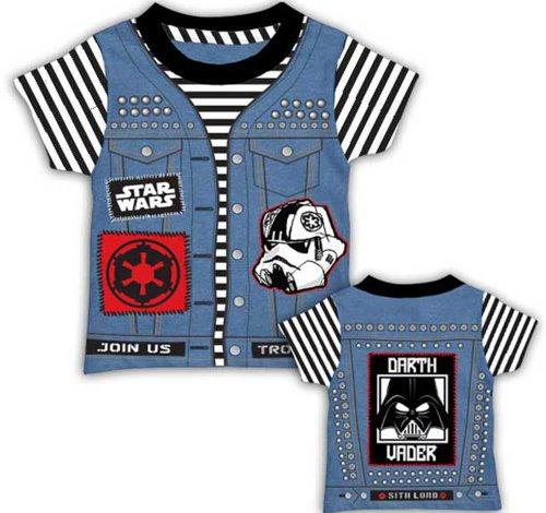 Star Wars Little Boys' Punk Vader Juvy Tee, As Shown, Medium front-502320