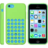 iProtect Silikon Schutzhülle iPhone 5c Case hollow dots grün
