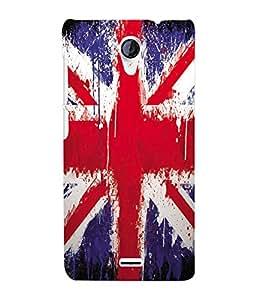Fuson 3D Printed England Flag Designer Back Case Cover for Micromax Unite 2 A106 - D607