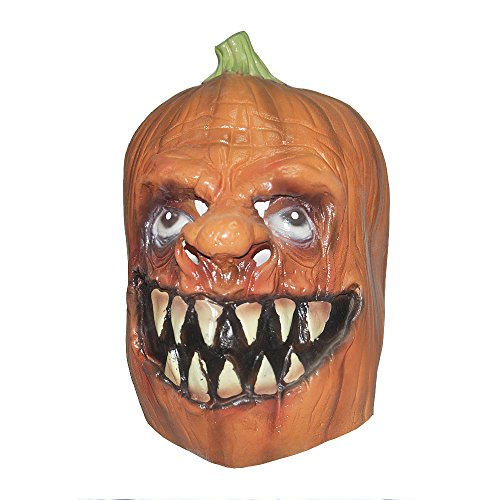 KingMas Halloween Scary Horror Pumpkins Latex Mask Costume Prop