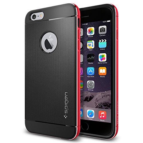 iPhone 6 Plus ケース Spigen [アルミニウム バンパー] ネオ・ハイブリッド メタル Apple iPhone (5.5) (国内正規品) (メタル・レッド SGP11073)