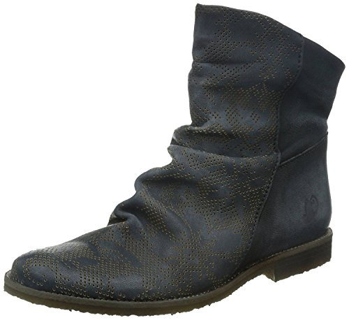 Felmini 8888 Anthracite Leather Womens Hi Ankle Boots-38