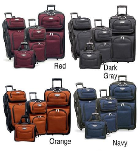 Travel Select Amsterdam 4-piece Luggage Set , Color Red (TS-6950)
