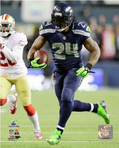 "Marshawn Lynch Seattle Seahawks 2014 NFC Championship TD Photo (Size: 8"" x 10"")"