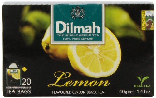 Dilmah Fun Teas, Lemon,1.41 -Ounce Boxes (Pack Of 6)