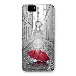 Tower Red Umbrella Back Case Cover for Google Nexus-6P