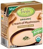 51gRQh0TriL. SL160  Pacific Natural Foods Organic Cream Of Mushroom Condensed Soup, 12 Ounce Boxes (Pack of 12)