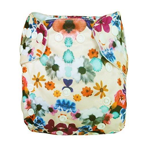 Besto Baby One Size Fit All Pocket Cloth Diaper Cover Reusable Washable Fit 6-33 Lbs 0N34 back-789839