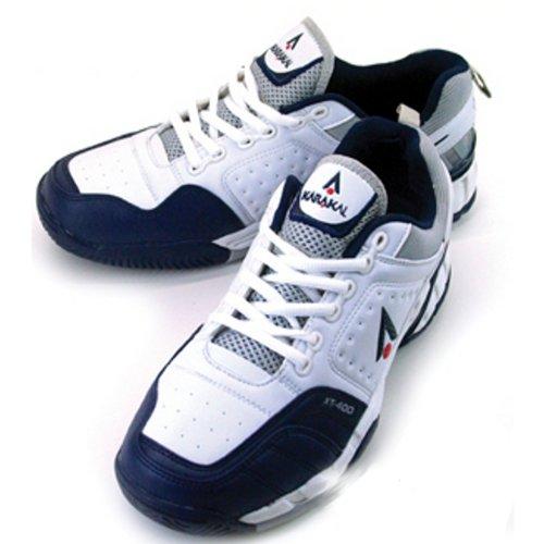 Karakal XT-400 Unisex Tennis Shoe - White/Navy, Size 43