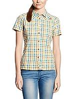 Salewa Camisa Mujer Valparola Dry W (Blanco / Naranja / Turquesa)