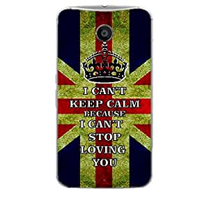 Skin4gadgets I CAN'T KEEP CALM BECAUSE I Cant Stop Lovin You - Colour - UK Flag Phone Skin for MOTOROLA NEXUS 6