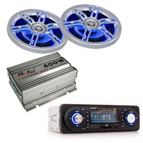 600W Auto Musikanlage Endstufe LED Boxen Car
