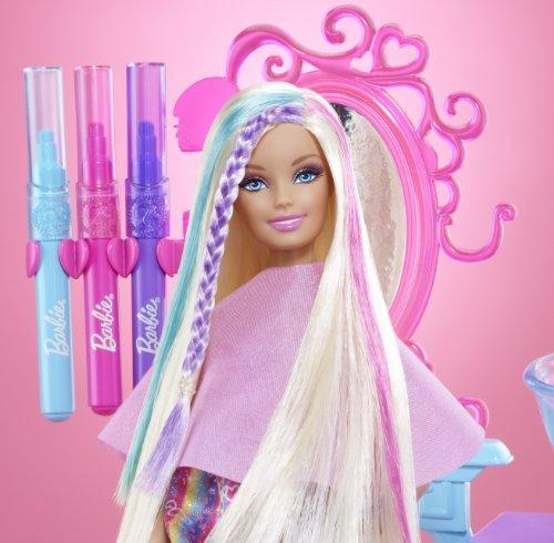 salon color smocks barbie hairtastic color and wash salon playset barbie playsets