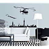 Syga Flying Helicopter Wall Stickers A_MUMS