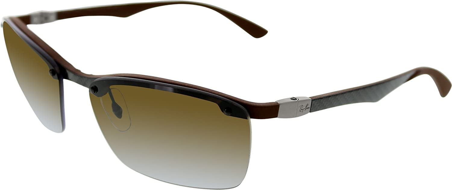 ray ban rubber frame  brown rubber