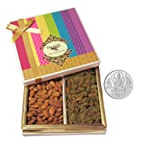 Chocholik Dry Fruits - Perfect Combination Of Almond & Raisin Plain With 5gm Pure Silver Coin - Diwali Gifts