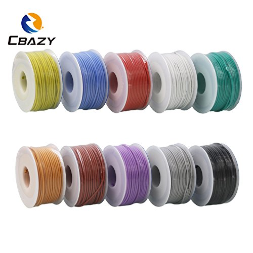 CBAZY™ Hook up Wire (Stranded Wire) 24 Gauge Flexible Silicone Wire 24AWG 30M (98 Feet) Electrical Wire White