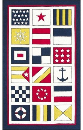 "Nautical Flags Rug - 2'8""x4'8"""