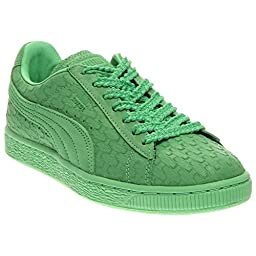 PUMA Women\'s Suede Classic - Solange Collection Patina Green Geo Sneaker 7 B (M)