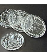 Set of 4 Crystal Pineapple Coasters by Shannon