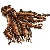 La Fiorentina Women's Twirly Striped Acrylic Muffler