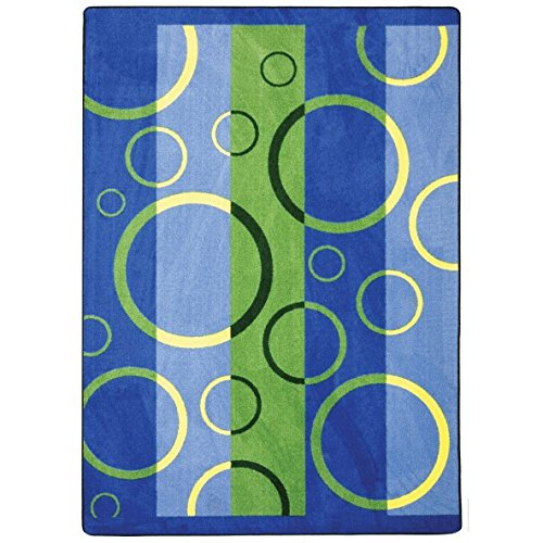 Joy carpets kaleidoscope under water whimsical area rugs for Green label carpet