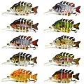 "3"" Crazy Panfish Series Multi Jointed Fishing Hard Lure Bait Swimbait Life-like Floating from BlitzBite"