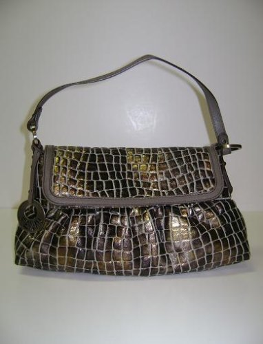 Fendi Handbags Leather Brown Gold Chef 8br445