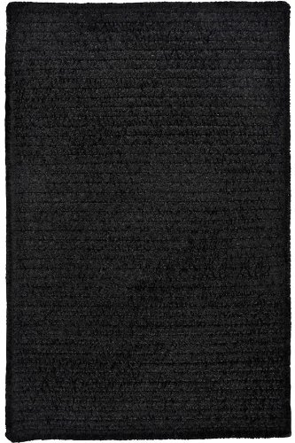 Allusion Area Area Rug, 2'x3', BLACK