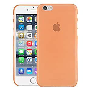 iPhone 6 Back cover, iPhone 6 Case (ZOUK)PP Thinnest Hard Protective Case Back Cover Bumper [ Semi-transparent ] for Apple iPhone 6 (Orange)