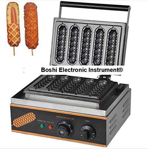 Boshi Electronic Instrument FY117 Commerical/Home use Non-stick 5pcs 110v 220v Electric French Hot Dog Waffle On a Stick Maker Baking Equipment CE Certification (Dog Waffle Maker compare prices)