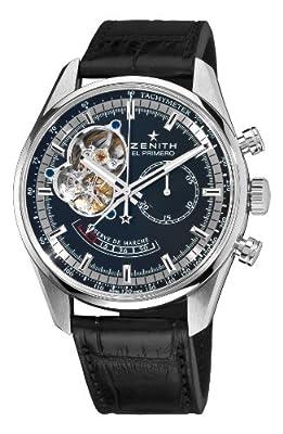 Zenith Men's 03.2080.4021/21.C496 Chronomaster Open Power Reserve Black Dial Watch