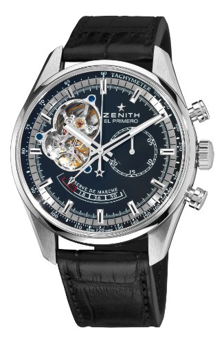 Zenith Men's 03.2080.4021/21.C496 Chronomaster Open Power Reserve Black Dial Watch