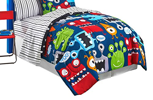 Just For Kids Monster Blue/Red/Yellow/Green Twin/Full 72