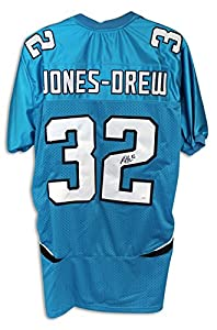 Maurice Jones-Drew Jacksonville Jaguars Autographed Hand Signed Blue Jersey by Hall of Fame Memorabilia