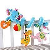 Happy cherry - Juguetes Colgantes Espiral de Animales para Cuna Cochecito Carrito beb�s ni�os ni�as arrastrar - azul