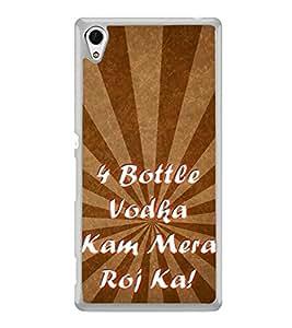 Chaar Bottle Vodka 2D Hard Polycarbonate Designer Back Case Cover for Sony Xperia Z4