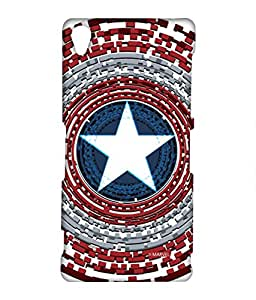 Captains Shield Engineered Phone Cover for Sony Z3 by Block Print Company