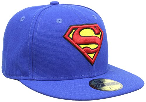 Donna Cappello Cappellino da Baseball New Era 59 Fifty Fitted Basic Superman, 7 1/4, 10862337