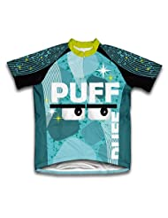 Puff Balls Short Sleeve Cycling Jersey for Women
