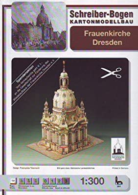 Schreiber-Bogen The Church of Our Blessed Lady (Frauenkirche) in Dresden Card Model