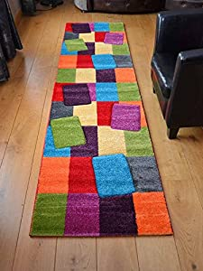 Candy Multicoloured Blocks Design Rug. Available in 5 Sizes by Rugs Supermarket