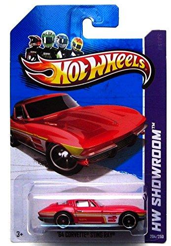 """Hot Wheels '64 Corvette Sting Ray (HW Showroom - 2013) """"Corvette 60th"""" #204/250 Die-Cast Model - 1"""