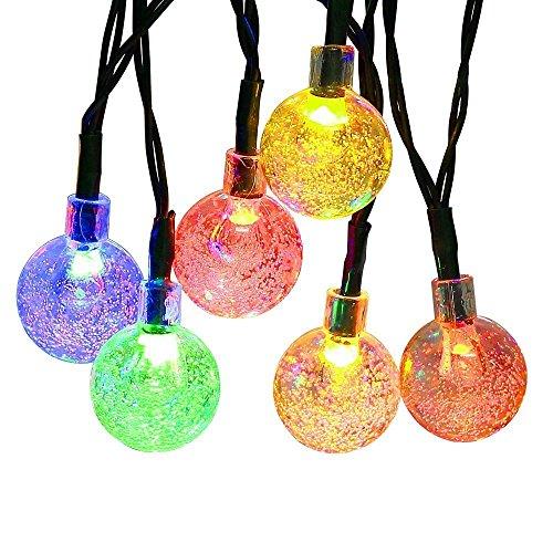 LED Crystal Ball Solar String Lights - J&Y   Crystal Light Show String