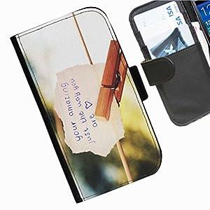 Hairyworm - Love Samsung Galaxy Note 3 (N9000, N9002, N9005) leather