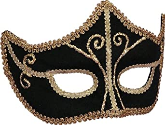 A fancy and formal mens masquerade mask.
