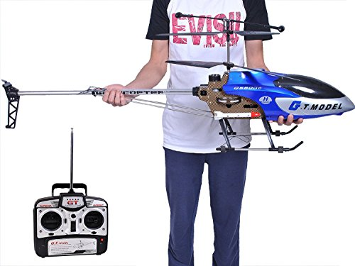 53 Inch Extra Large GT QS8006 2 Speed 3.5 Ch RC Helicopter Builtin GYRO Blue (Gas Powered Remote Helicopter compare prices)